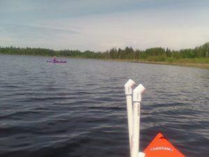 Lee Cuesta kayak in Lake Cassidy.